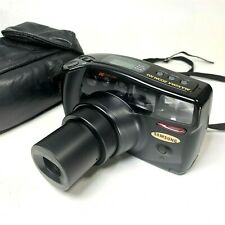 Vintage Samsung Maxima Zoom 38-105mm Super Macro 35mm Film Camera - WORKS