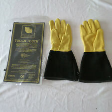 Gold Leaf Tough Touch Gardening Gloves GENTS FIT Leather Gardening Gauntlets   C