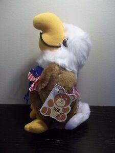 1982 WALLACE BERRIE CUDDLE-UPS OLYMPICS PLUSH stuffed TOY WASHINGTON EAGLE USA