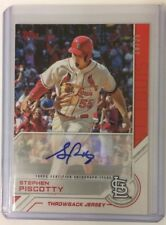 2017 TOPPS Salute Series 1 Stephen Piscotty Throwback Jersey Red Auto 19/25