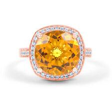 Citrine Rose Gold Fine Rings