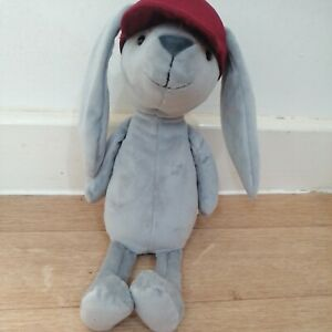 Jelly Cat Hip Hop Bunny Plush Red Cap Hat Brand New With Tags BNWT Rabbit Soft