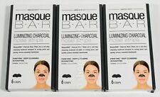 lot 3 Masque Bar Luminizing Charcoal NOSE STRIPS 6 blackheads =18 strips 12/2020