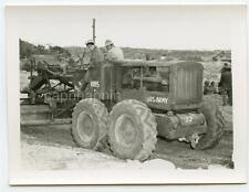 Natives Operate US Army Caterpillar Motor Grader Okinawa Post WWII Vtg Photo