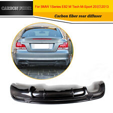 Carbon Fiber Rear Bumper Lip Diffuser Fit for BMW E82 125I 128I M Tech M-Sport