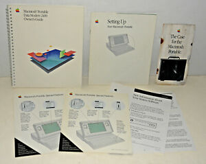 LOT of 7 Macintosh Portable Manuals & Paperwork