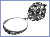 RARE Silver Filigree Bracelet-Style Knitting Wool Holder *C.1830s