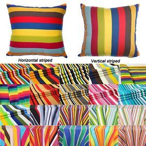 Tailor Made*COVER*Rainbow Strip Cotton Canvas Pillow Cushion Case Floor sofa*Ak3