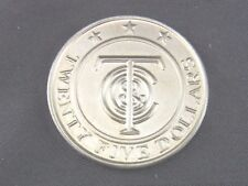 Twenty five dollars Tiffany & co plata Sterling, moneda, medalla