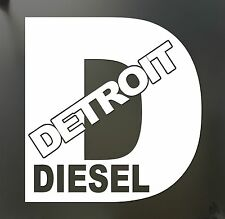 Detroit Diesel Turbo Chevy Sticker Funny rolling coal 4X4 FWD truck window