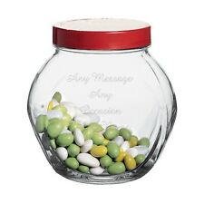 Engraved Biscuit Sweet Treat Jar, Fathers Day Gift Personalised Any Message