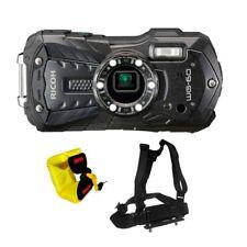 Ricoh WG-60 Digital Camera Black + Pentax Floating Wrist Strap + Chest Harness