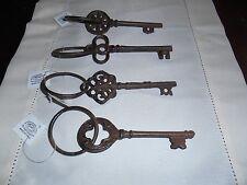 """Very Fancy"""" Rustic, Cast Iron Keys. Set,Of 4 ( 5,& 1/4"""" x 1,& 3/4) Read Below."""