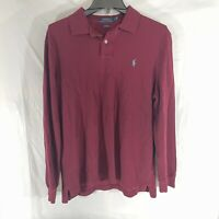 Polo Ralph Lauren Men's Polo Shirt Long Sleeve Red Size Large