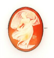 Sterling Silver & Shell Cameo Brooch Fine Collectable Jewellery