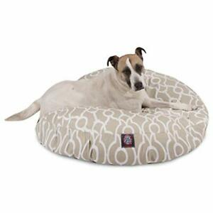 Majestic Pet Athens Sand Large Round Pet Bed