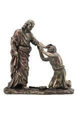 Jesus Christ Healing Blind Man Sculpture Christian Statue