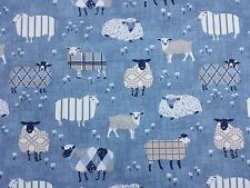 iLiv Baa Baa Sheep Denim Curtain Craft Upholstery Designer Fabric
