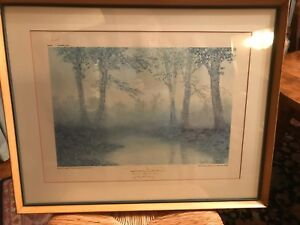 """""""Early Morning on Benson Creek"""" Presented by Lieut. Gov. Ky. 1974 #3/20"""