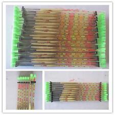 Chaud 10 pièces Flotteurs En bois Ruban poisson pêche Plein Air core DG