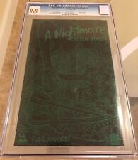 Nightmare On Elm Street Paranoid #1 CGC 9.9 LEATHER EDITION GREEN FOIL LOGO MINT