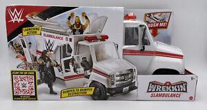 Offical WWE Mattel Wrekkin SLAMBULANCE Playset Ambulance Vehicle Damaged Package