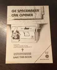 ge can openers and crushers for sale ebay rh ebay com Electric Can Opener GE Spacemaker Can Opener