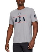 Under Armour Mens T-Shirt Gray Size 2XL Graphic Tee USA Printed Logo $25 #126