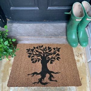 Natural Coir Doormat Tree of Life Heart Mat Biodegradable Quality Eco Friendly