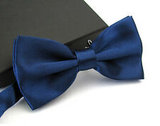 Fashion Men's Tuxedo Satin Plain Solid Color Adjustable Wedding Bowtie Bow Tie