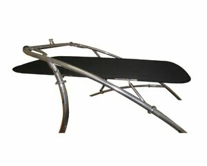 Universal Wakeboard Tower Mounted Flat Cargo Bimini Top Cover - Canvas Frame