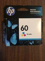 HP Ink Cartridge 60 Tri Color Genuine Sealed OEM Expired Mar 2015