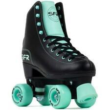 SFR Figure Black/Mint Quad Roller Skates - UK 3