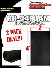 "DJ Speaker Woofer Cabinet Grill Foam 2' Wide x 4'Long x 3/8"" Thick Black 2 PACK"