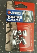 4x Campbell Hausfeld Chrome Valve Caps & Sleeves AU1087 For Schrader Tyre Valves