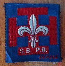 Insigne scout en tissu scout de France S.B. P.B.