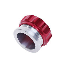 1'' 25.4mm  Aluminium Alloy Weld On Filler Neck And Cap Oil Fuel Water Tank Red