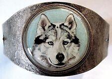Siberian Husky original art cuff bracelet