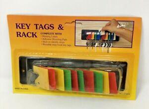 Key Tags  (10 MULT-COLORED TAGS) & Rack