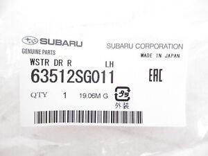 Genuine OEM Subaru 63512SG011 Rear Left Door Weatherstrip Seal 2014-18 Forester