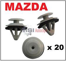 20 X Funda alféizar de moldeo por Puerta Lateral Mazda Falda Recortar Clips Laterales Con Sellador