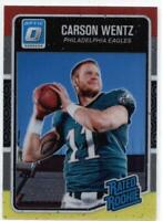 2016 Donruss Optic Rated Rookies Red and Yellow #156 Carson Wentz Eagles NM-MT