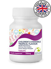 Children's Chewable Tropical ABCDE Multivitamin Tablets - Choose Bottle Size