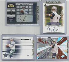 TONY ROMO 2003 *COMPLETE ROOKIE SET* 18 RC CARDS AUTOS COWBOYS