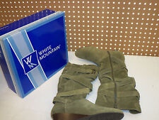 White Mountain New Womens Bully Loden Suede 7 M Shoes Boots