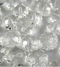 Hot Jewelry Faceted 50pcs Rondelle glass crystal #5040 4x6mm Beads clear BCF8W34