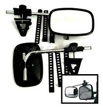 Tow mirror PAIR clip on extending car caravan towing  extension arm blind spot