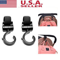 2Pcs Baby Stroller Hooks Hanger Bag Pram 360 Degree Rotate Cart Hook Accessories