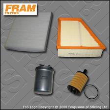 Kit de servicio para Seat Ibiza (6L) 1.9 TDI Fram Aceite Aire Cabina Filtro De Combustible 2005-2009