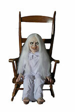 HALLOWEEN LIFE SIZE ANIMATED GHOSTLY GHOST GIRL  PROP DECORATION ANIMATRONIC